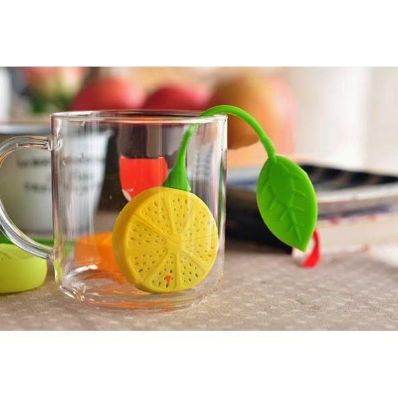 infuseur de th boule ou filtre th citron cadeau design achat vente infuseur boule. Black Bedroom Furniture Sets. Home Design Ideas