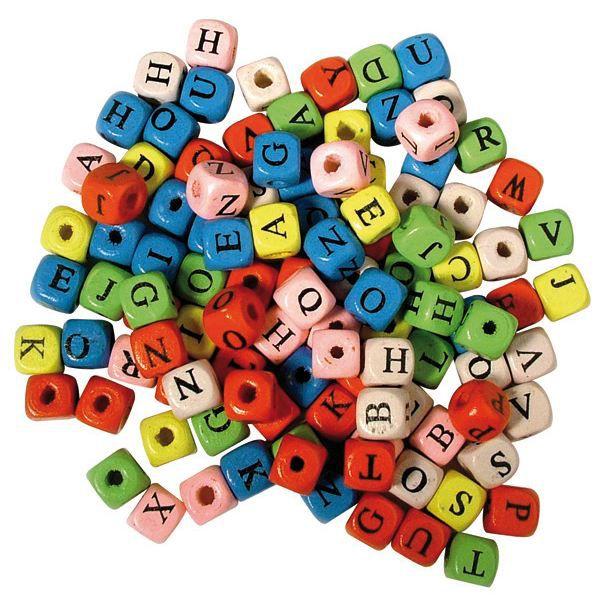 d s en bois avec lettres assorties 10 x 10 mm achat vente perles d s en bois avec lettres
