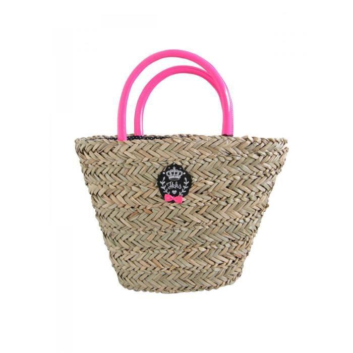 sac de plage en paille beige ikks achat vente panier sac de plage sac de plage en paille. Black Bedroom Furniture Sets. Home Design Ideas
