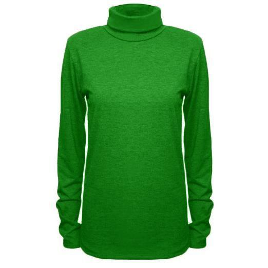 femmes polo col roul extensible jade vert achat. Black Bedroom Furniture Sets. Home Design Ideas