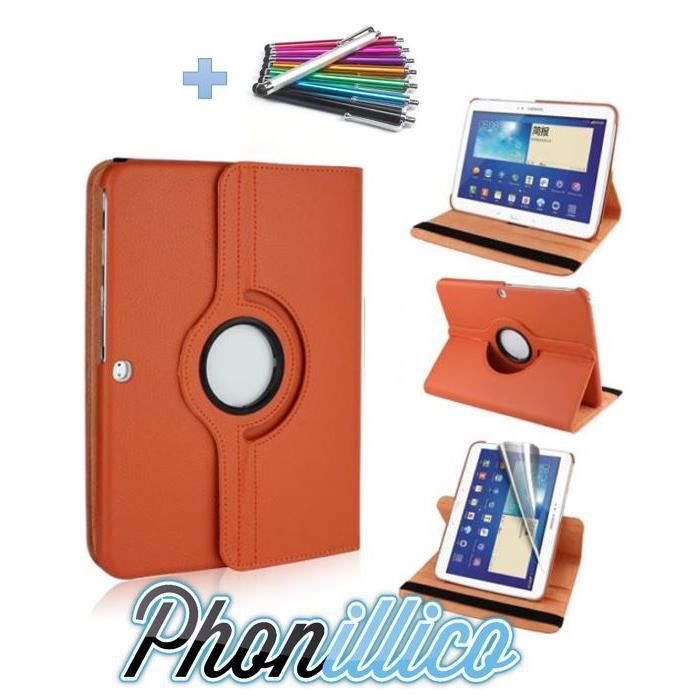 telephonie accessoires portable gsm coque stylet samsung galaxy tab  orange f pho