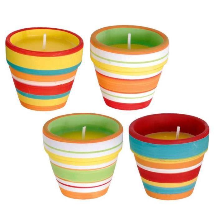 bougie citronnelle en petit pot 4 pi ces achat vente anti moustique bougie citronnelle en. Black Bedroom Furniture Sets. Home Design Ideas