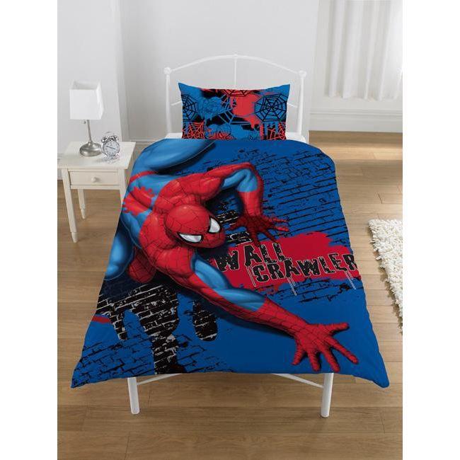 spiderman parure de couette achat vente parure de. Black Bedroom Furniture Sets. Home Design Ideas