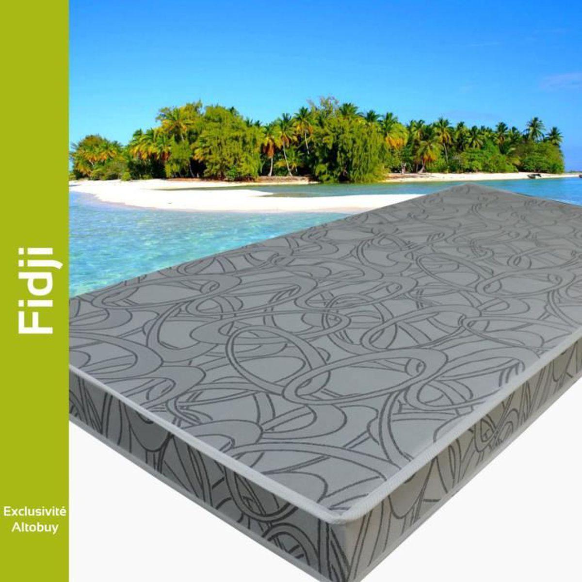 fidji matelas 80x190cm gris achat vente matelas. Black Bedroom Furniture Sets. Home Design Ideas