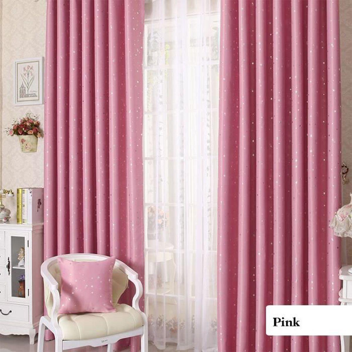 rideaux occultants toiles de dessin anim d coration enfant chambre 100 250cm rose. Black Bedroom Furniture Sets. Home Design Ideas