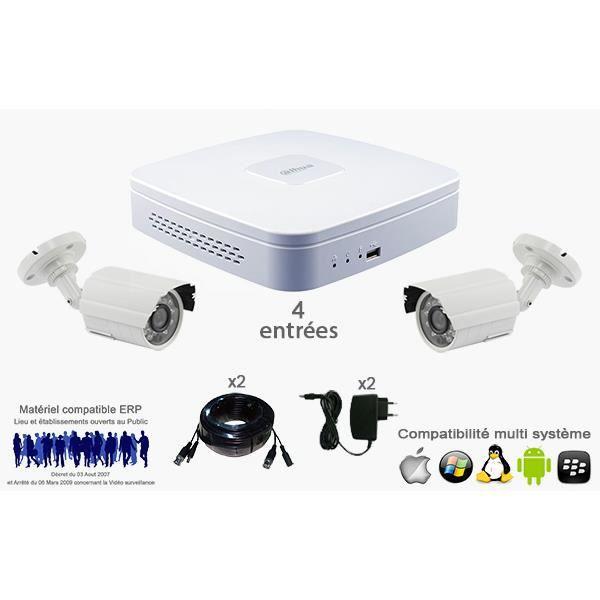 kit premium 2 cameras exterieur achat vente cam ra de surveillance cdiscount. Black Bedroom Furniture Sets. Home Design Ideas