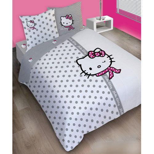 parure de lit hello kitty couture 240 achat vente. Black Bedroom Furniture Sets. Home Design Ideas