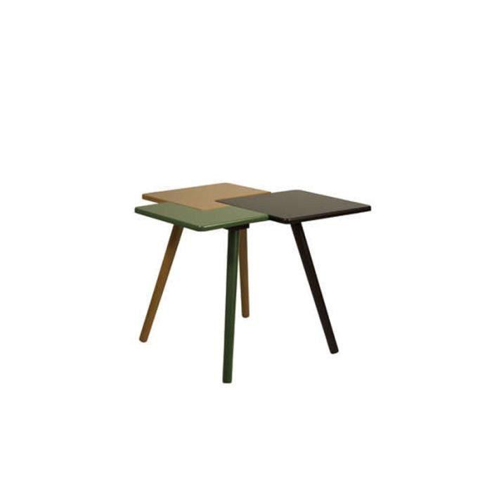 Table basse 3 plateaux triple side multicolor achat - Table basse 3 plateaux ...