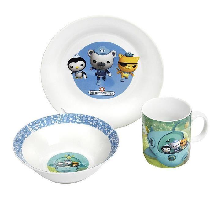 Octonauts octonautes 3 pi ces en porcelaine de for Set petit dejeuner porcelaine