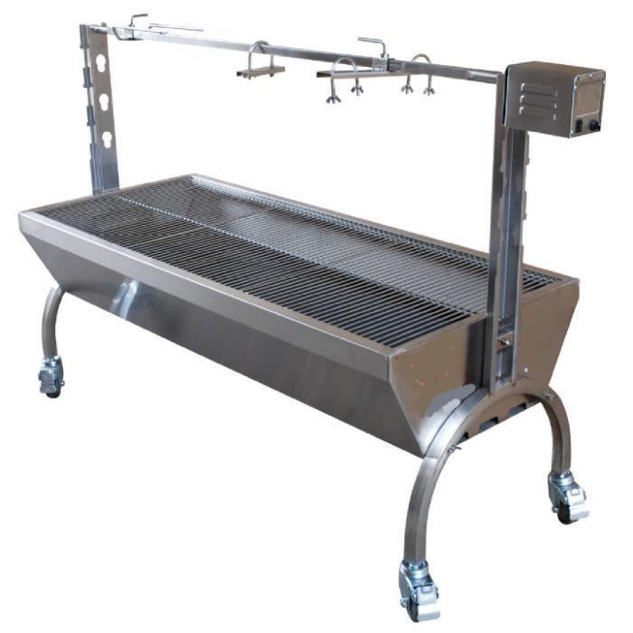 barbecue grill pro inox tournebroche 70 kg achat vente barbecue barbecue grill pro inox. Black Bedroom Furniture Sets. Home Design Ideas