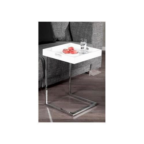 Table d 39 appoint design ciano blanc achat vente - Table d appoint console ...