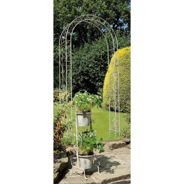 Arche de jardin loire arch 1 2 x h2 4 m achat vente - Arche metallique jardin ...
