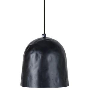 ELIOT Lustre - suspension campanule diam?tre 17 cm, martelée, noir