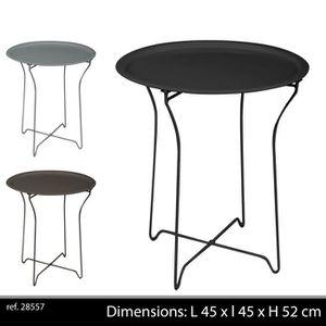 gueridon de jardin achat vente gueridon de jardin pas cher cdiscount. Black Bedroom Furniture Sets. Home Design Ideas