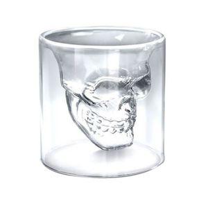 Verre à cocktail Verre Alcool Mort Shot Skull Crâne Cristal Vodka