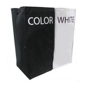 panier a linge noir et blanc achat vente panier a linge noir et blanc pas cher cdiscount. Black Bedroom Furniture Sets. Home Design Ideas