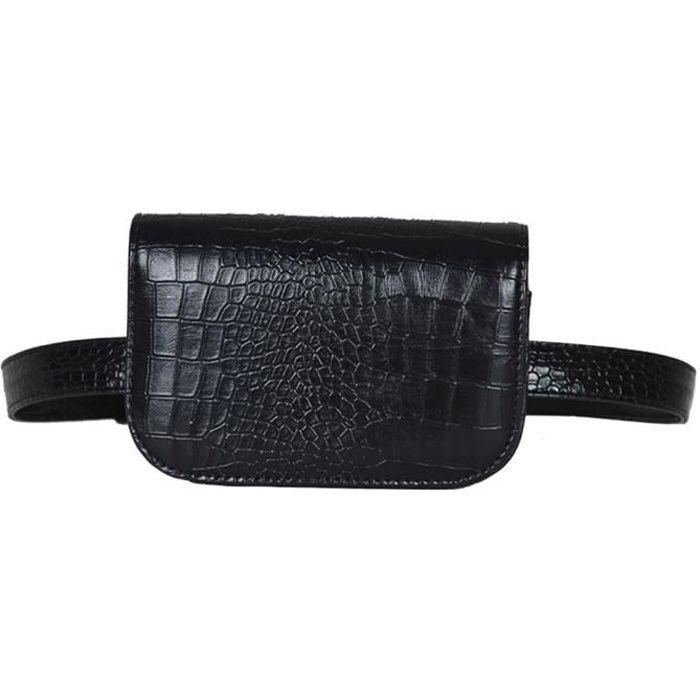 sac banane femme multifonctionnel sac reins mini mode avec ceinture en pu sacoche rayure. Black Bedroom Furniture Sets. Home Design Ideas