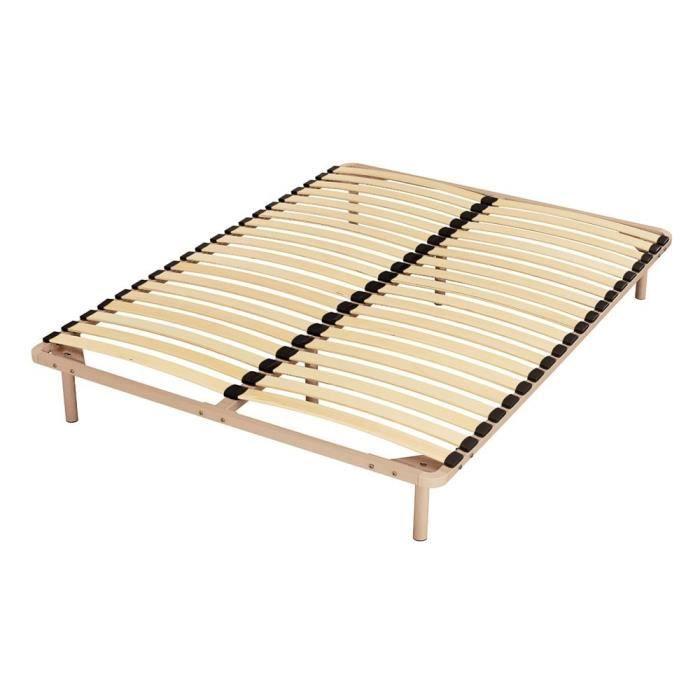 sommier m tal 140x190 capri 40 lattes achat vente sommier cdiscount. Black Bedroom Furniture Sets. Home Design Ideas