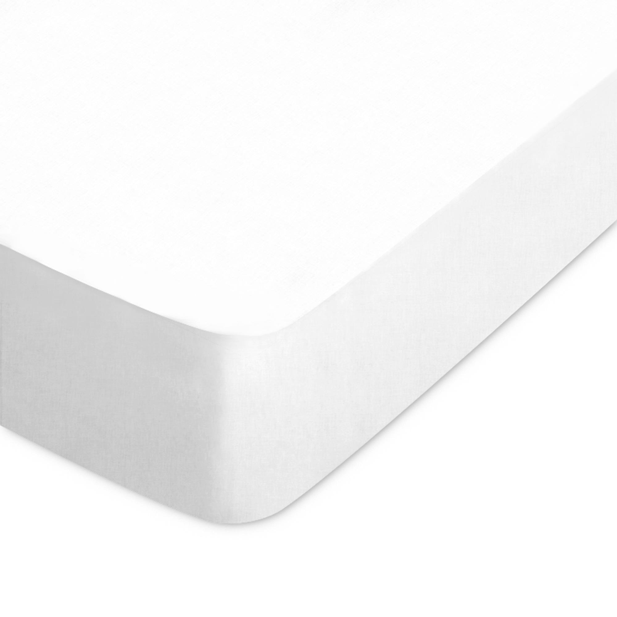 drap housse coton 70x190 blanc achat vente drap housse. Black Bedroom Furniture Sets. Home Design Ideas