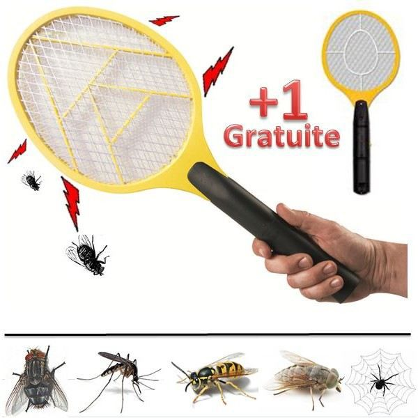 raquette electrique tue mouches moustiques guep achat vente pi ge nuisible maison raquette. Black Bedroom Furniture Sets. Home Design Ideas