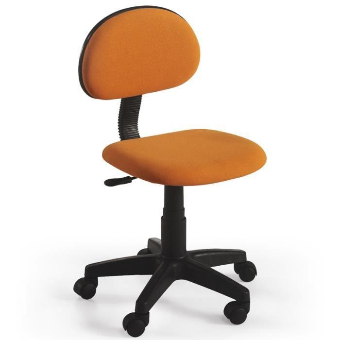 chaise de bureau tudiant orange dimensions achat vente chaise de bureau orange cdiscount. Black Bedroom Furniture Sets. Home Design Ideas