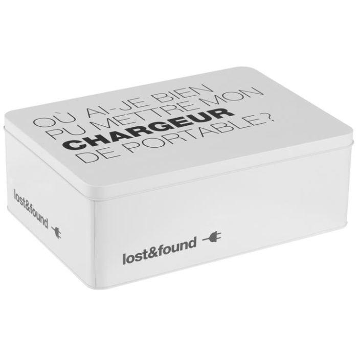 bo te chargeurs et cables achat vente boite de rangement m tal soldes d t cdiscount. Black Bedroom Furniture Sets. Home Design Ideas