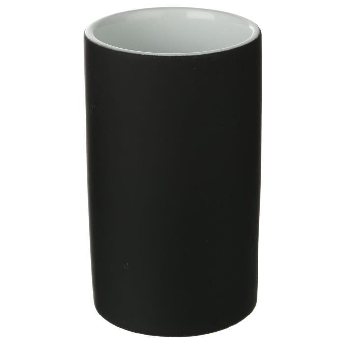 Verre de salle de bain en c ramique noir achat vente for Accessoire salle de bain noir