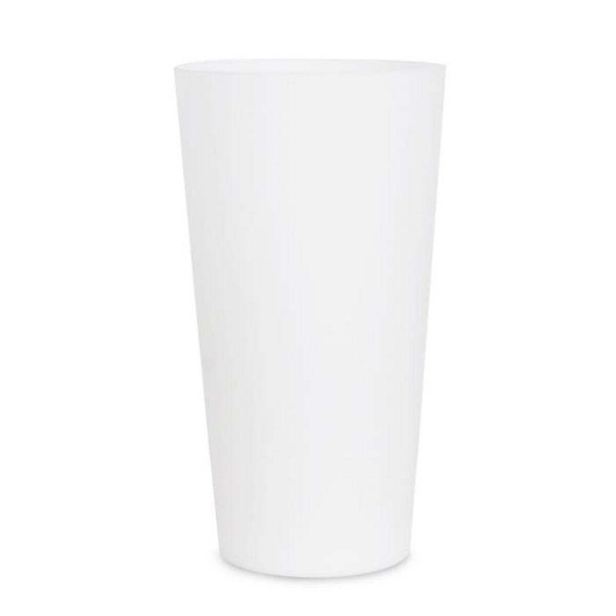 """Lampe de Table ou Chevet """"RHONA"""" Cylindre en Verre Blanc Opaline Givré avec doublure en blanc"""
