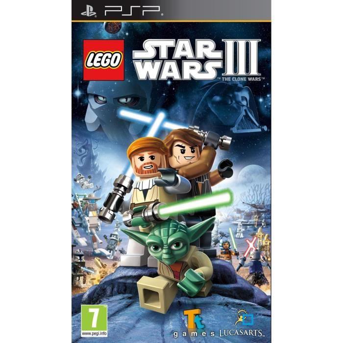 JEU PSP LEGO STAR WARS 3 / Jeu console PSP