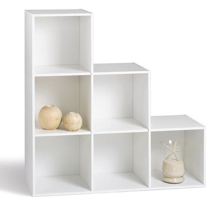 Compo meuble escalier 6 cases blanc achat vente petit for Meuble cube 6 cases