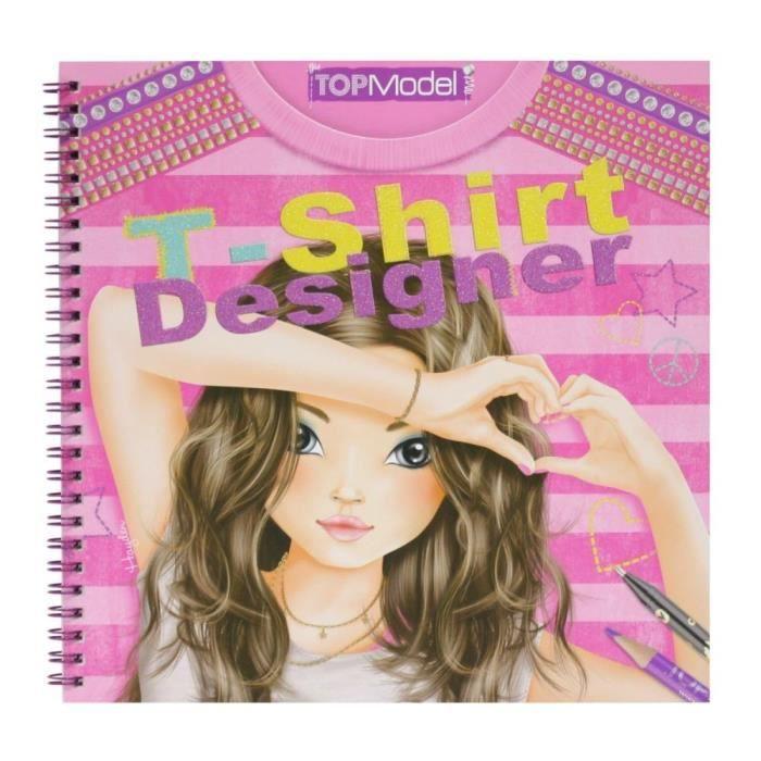 Top model album de coloriage styliste t shirt achat vente livre de coloriage soldes - Dessin top model ...