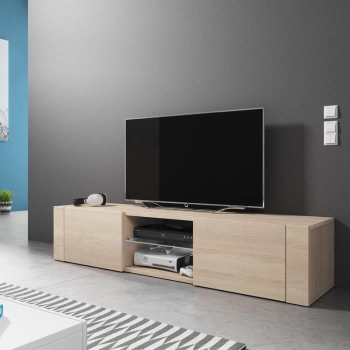 meuble tv bois clair achat vente meuble tv bois clair. Black Bedroom Furniture Sets. Home Design Ideas