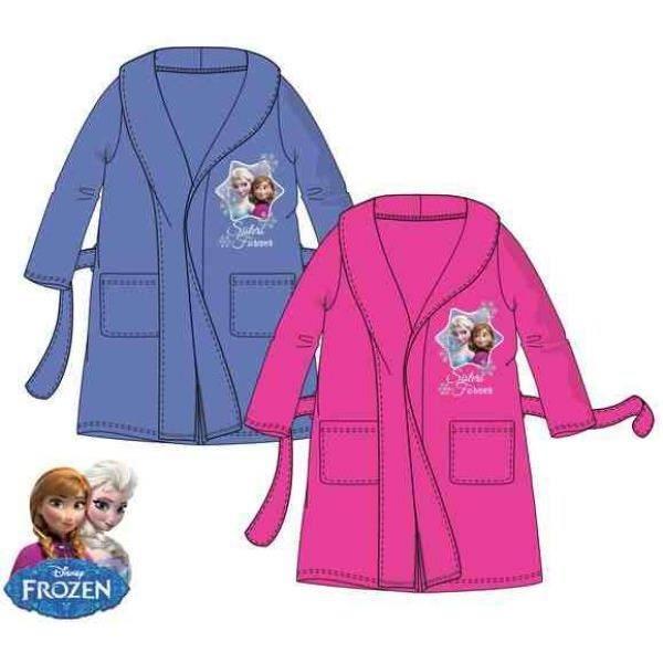 magnifique robe de chambre reine des neiges rose en 5 ans