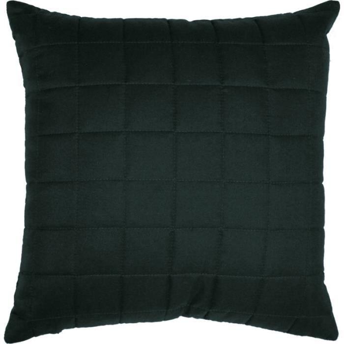 housse de coussin 40 x 40 cm venus microfibre noir achat. Black Bedroom Furniture Sets. Home Design Ideas