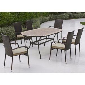 Table De Jardin En Mosaique Achat Vente Table De