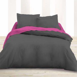 housse de couette 160x200 achat vente housse de couette 160x200 pas cher cdiscount. Black Bedroom Furniture Sets. Home Design Ideas