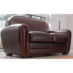 Canap club cuir marron 39 louisiane achat vente canap sofa divan - Canape club cuir occasion ...