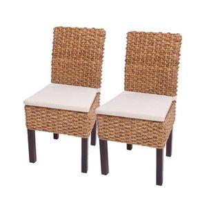 CHAISE Lot de 2 chaises M43 salle à manger, jacinthe d'ea