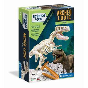 EXPÉRIENCE SCIENTIFIQUE CLEMENTONI Archéo Ludic T-Rex Phosphorescent
