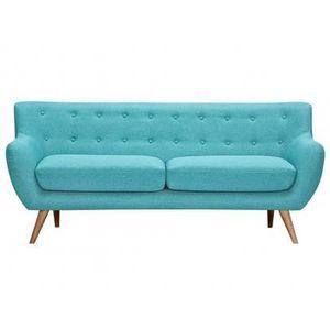 canap sofa divan canap 3 places en tissu serti bleu turquoise a - Canape Bleu