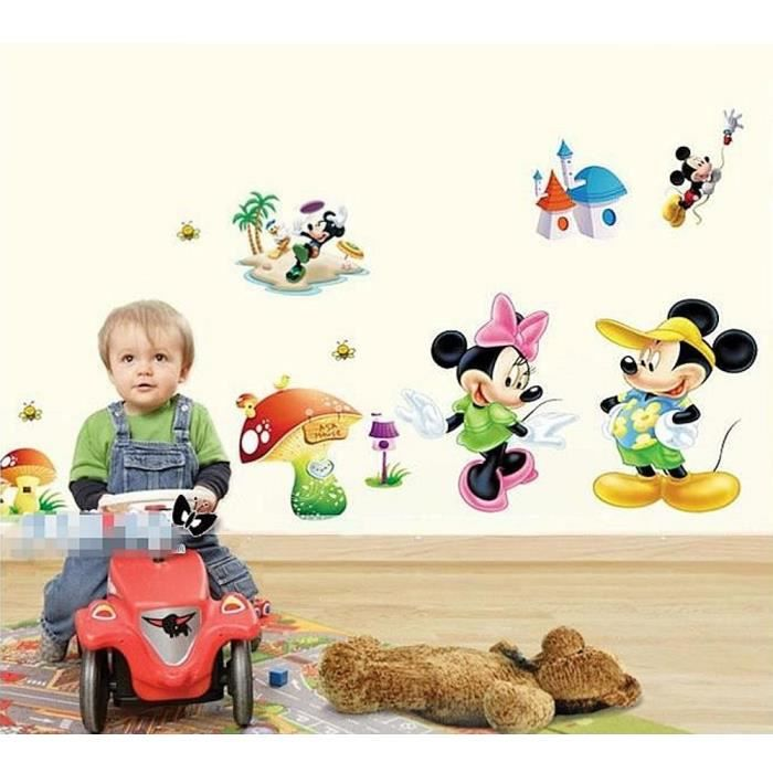 Stickers mickey et minie achat vente stickers mickey for Stickers mickey chambre