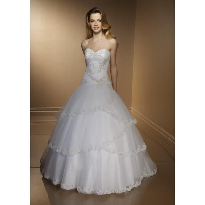 Robe de mariee PARIS Blanc - Achat / Vente robe 2009976997688 ...