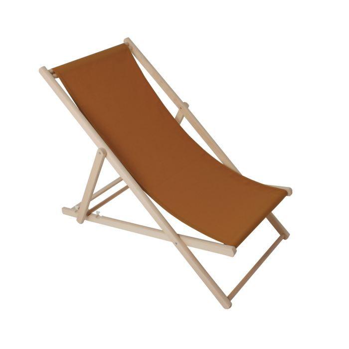 Chilienne cruz coloris terracotta achat vente chaise - Chilienne chaise longue ...