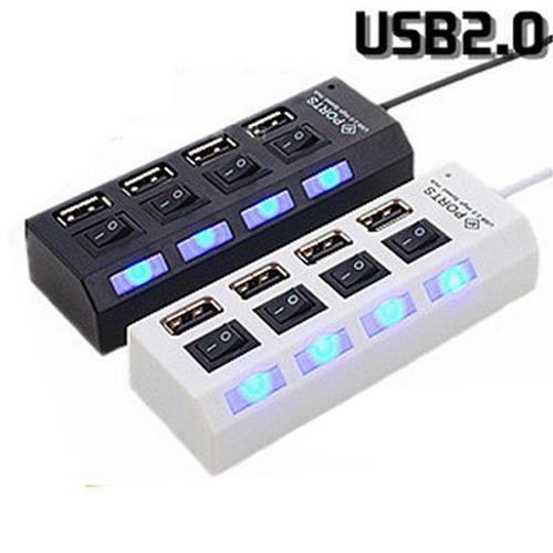 4-Port Hub USB 2.0 High Speed Ports Pour Ordinateur, Pc