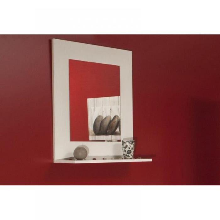 Image miroir mural design couleur creme achat vente for O miroir la rochelle