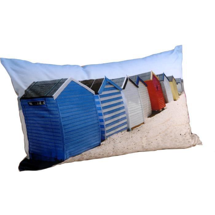 coussin cabines de plage 50x30cm lot de 2 achat vente coussin cdiscount. Black Bedroom Furniture Sets. Home Design Ideas