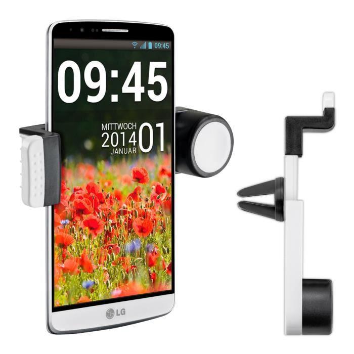 kwmobile support de voiture universel avec un bras pour lg g3 en blanc le portable est. Black Bedroom Furniture Sets. Home Design Ideas