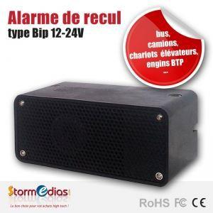 alarme de recul type 39 bip 39 12 24v achat vente radar de recul alarme de recul type 39 bip. Black Bedroom Furniture Sets. Home Design Ideas