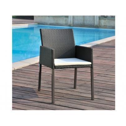 lot de 2 fauteuils de jardin en r sine tress e chocolat manaos achat vente chaise fauteuil. Black Bedroom Furniture Sets. Home Design Ideas