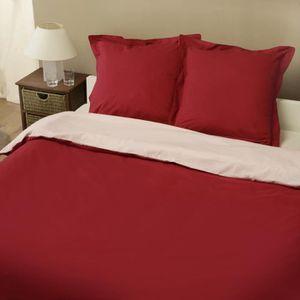 housse couette bicolore 200x200 achat vente housse couette bicolore 200x200 pas cher cdiscount. Black Bedroom Furniture Sets. Home Design Ideas
